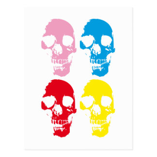 COLOR SKULLS POSTCARD