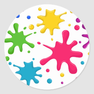 Color Spatter Classic Round Sticker