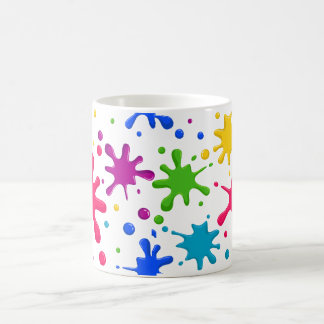 Color Spatter Coffee Mug