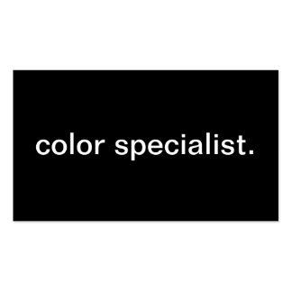 Color Specialist Business Card