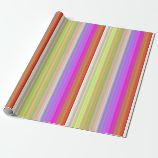 Color Spectrum Stripes Wrapping Paper