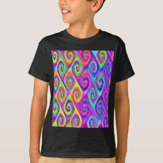 Color Spiral Alpgorithmic Pattern T-Shirt