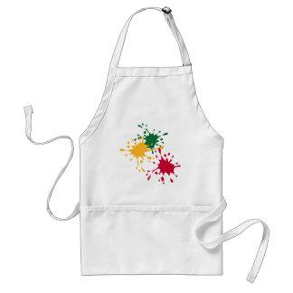 Color splash adult apron