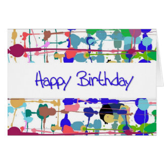 Color Splash Birthday Card (Large Print)