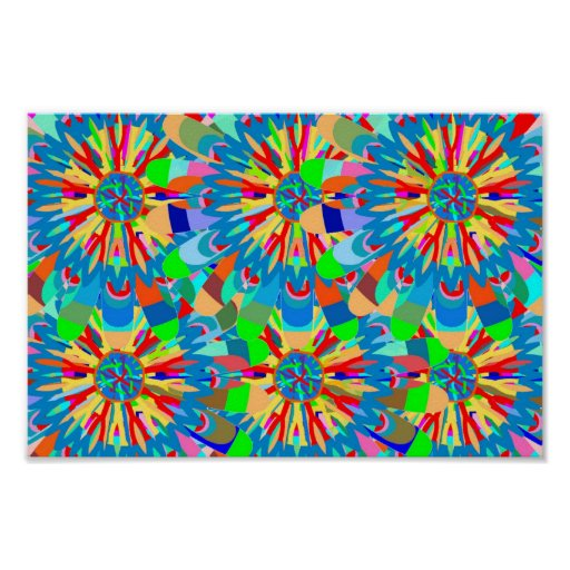 COLOR Splash Chakra Style Art Posters