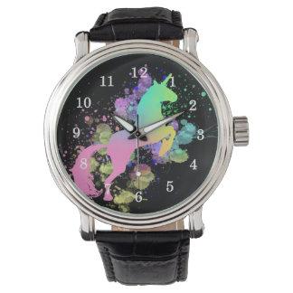 Color Splash Fantasy Rainbow Unicorn Watch