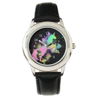Color Splash Fantasy Rainbow Unicorn Watches