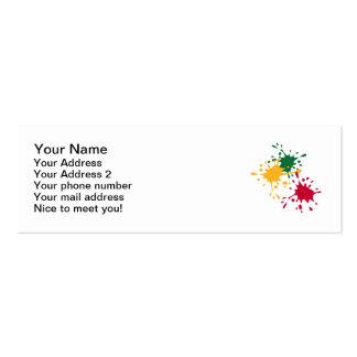 Color splash pack of skinny business cards