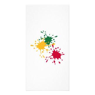 Color splash personalized photo card