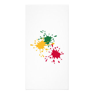 Color splash personalized photo card
