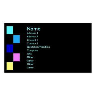 Color Squaers Profile Card Business Cards