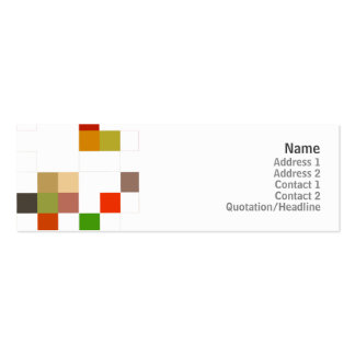 Color Square - Skinny Pack Of Skinny Business Cards