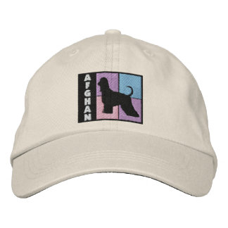 Color Squares Afghan Hound Embroidered Baseball Caps