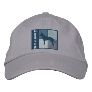 Color Squares Australian Cattle Dog Embroidered Cap