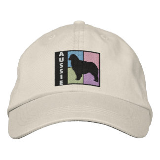 Color Squares Australian Shepherd Embroidered Hat