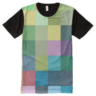color squares background abstract geometric patter All-Over print T-Shirt
