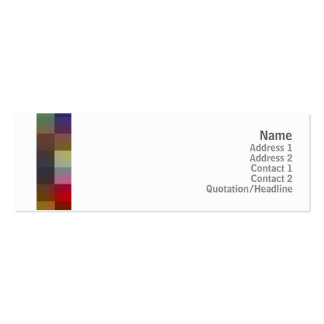 Color Squares - Skinny Business Card