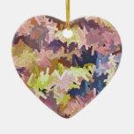 Color Stacks Heart Ornament Ornament