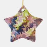 Color Stacks Star Ornament Christmas Tree Ornament