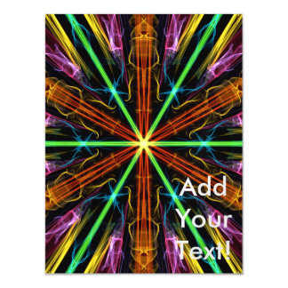 Color Star Abstract Art Magnetic Invitations