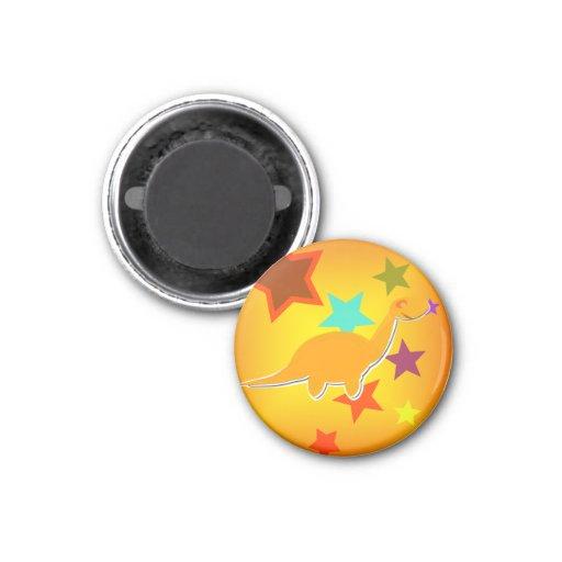 Color Stars Cartoon Dinosaur Fridge Magnet