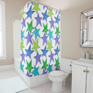Color Stars - LG Shower Curtain