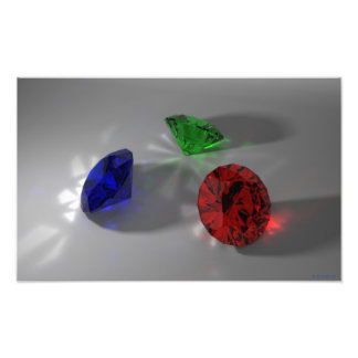 Color Stones (Red, Green, Blue) Photoprint Photo Print