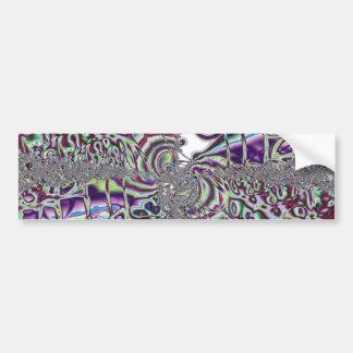 Color Storm - Fractal Art Bumper Sticker