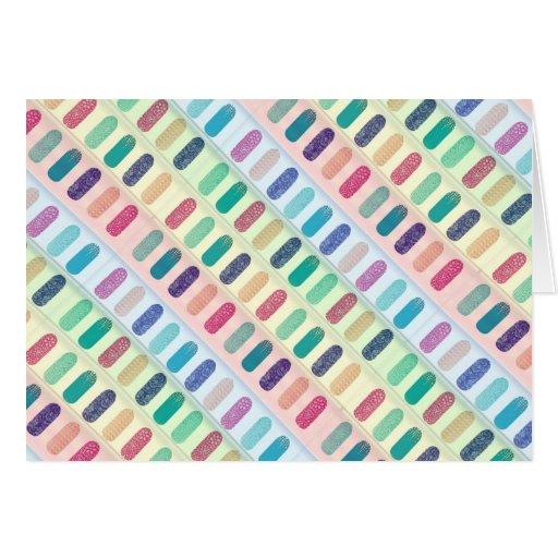 COLOR Strip Design Patterns Greeting Cards