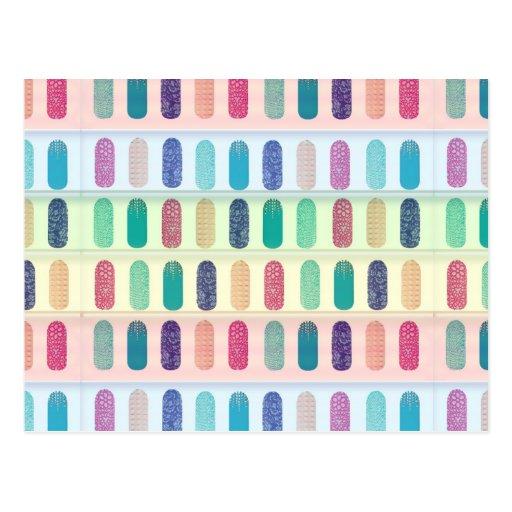 COLOR Strip Design Patterns Postcard