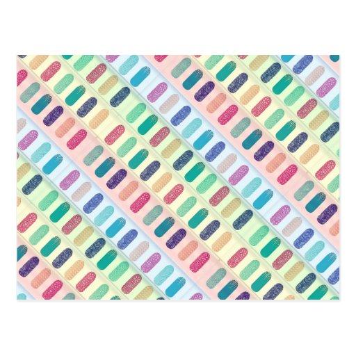 COLOR Strip Design Patterns Postcards