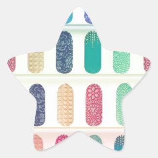 COLOR Strip Design Patterns Star Stickers
