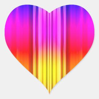 Color Stripes Heart Sticker