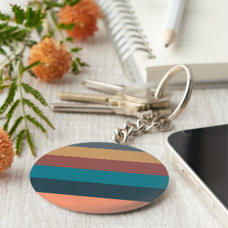 color stripes in colorful pastel basic round button key ring