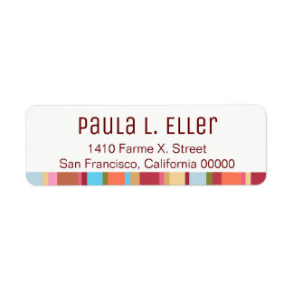 color stripes return address label