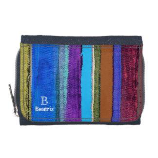 color stripes texture wallets