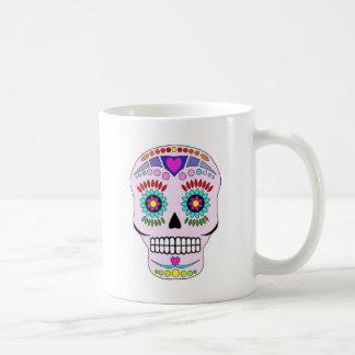 Color Sugar Skull Basic White Mug