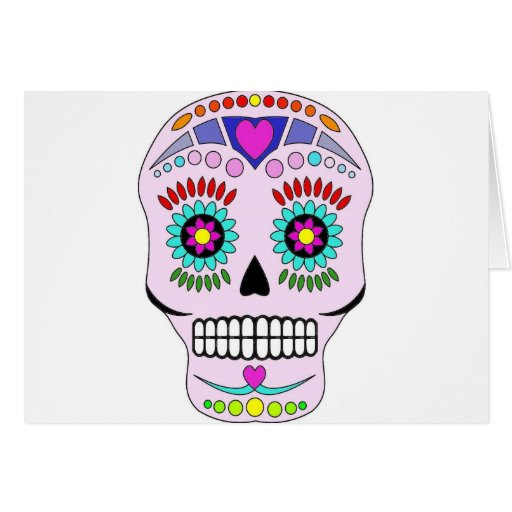 Color Sugar Skull Cards