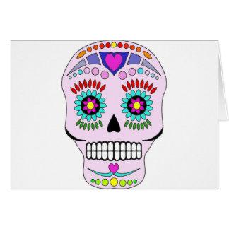 Color Sugar Skull Greeting Card