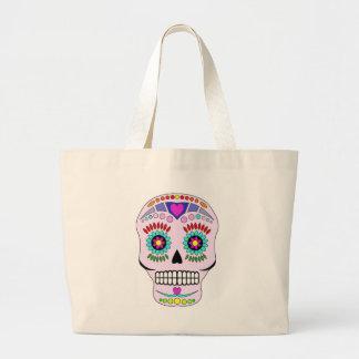 Color Sugar Skull Jumbo Tote Bag