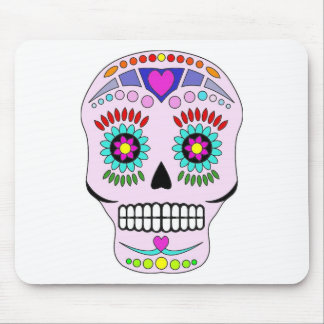 Color Sugar Skull Mouse Pad