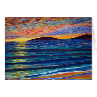 color sunset greeting card