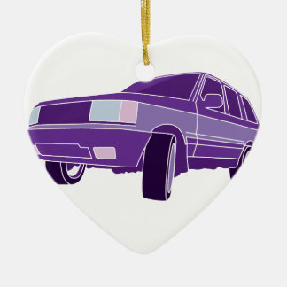 Color SUV Christmas Ornament