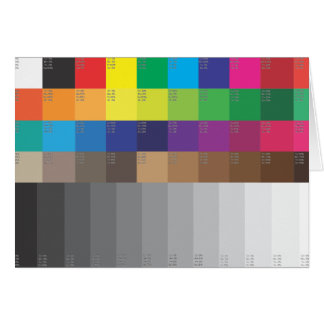 COLOR SWATCH AND GRAY SCALE CARD