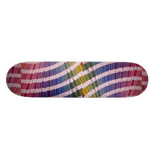Color swatches custom skateboard