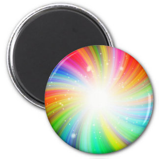 Color swirl 6 cm round magnet