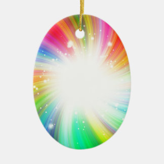 Color swirl christmas ornament