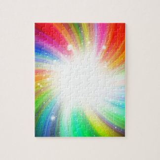 Color swirl jigsaw puzzle