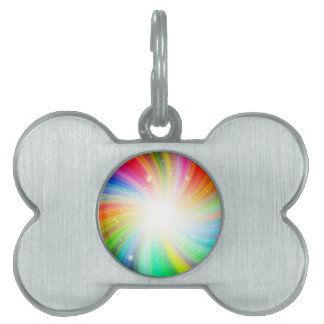 Color swirl pet name tag