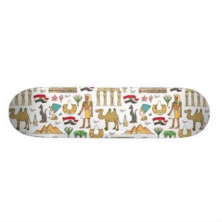 Color Symbols of Egypt Pattern 20 Cm Skateboard Deck